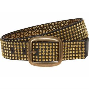 Zadig & Voltaire Wide Studded Leather Belt